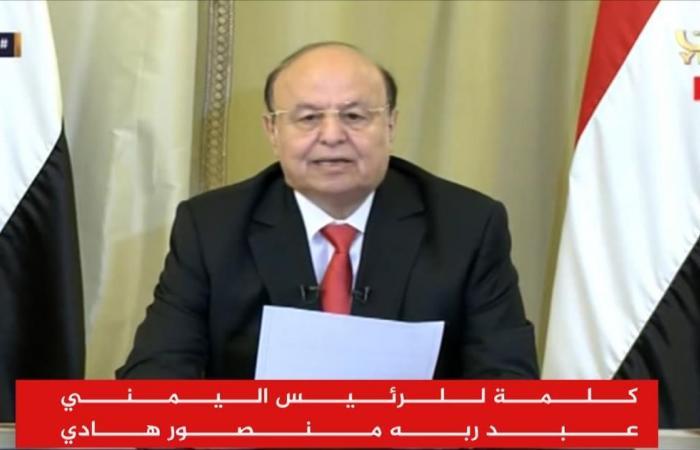 هادي يدعو للانتفاض ضد الحوثيين بعد مقتل صالح