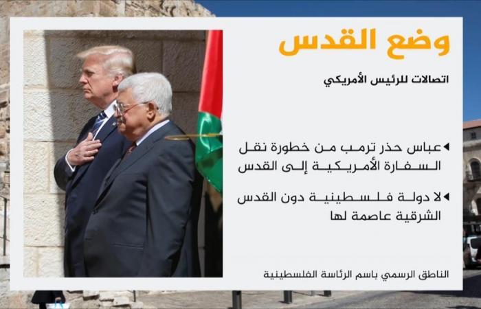 ترمب يبلغ السلطة والأردن عزمه نقل سفارة بلاده للقدس