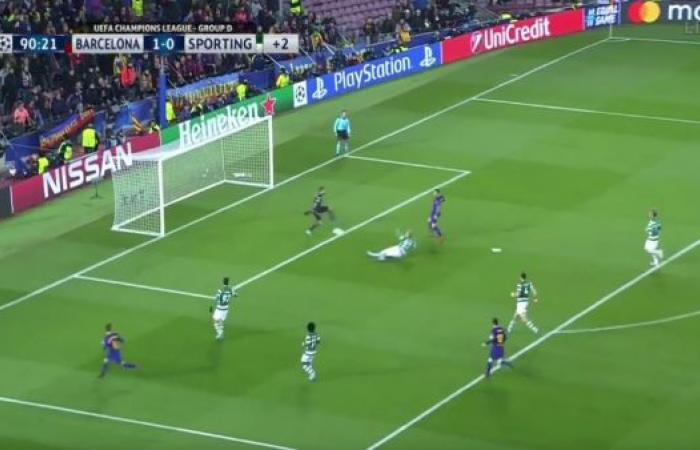 ماثيو..وعد بهز شباك برشلونة فسجل في مرماه!