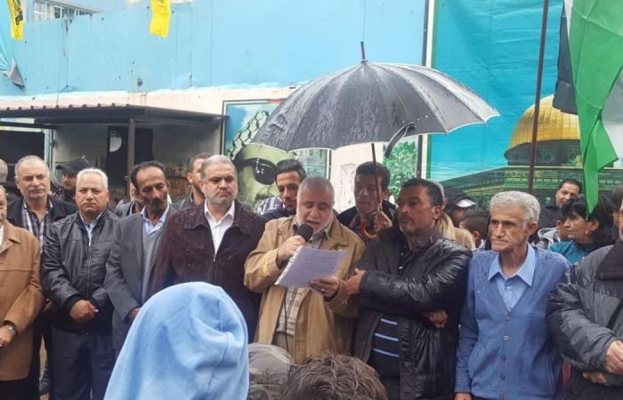 اعتصام في مخيم عين الحلوة تنديدا بقرار ترامب عن القدس