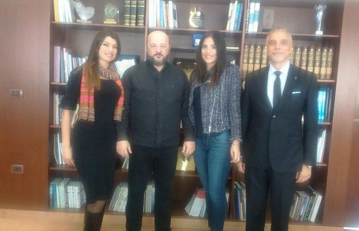 الرياشي استقبل وفداً من منظمة أسبوع الموضة في بيروت
