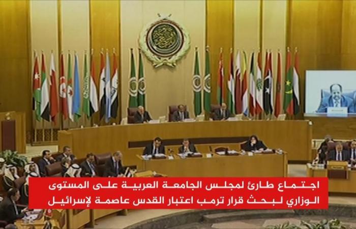 الوزاري العربي يبحث الرد على قرار ترمب بشأن القدس