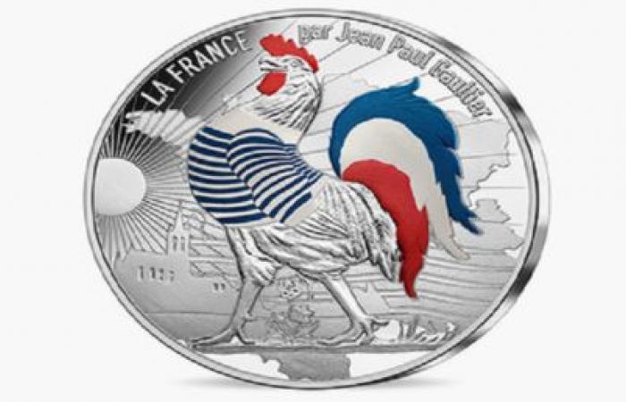 الديك الفرنسي يزين عملة اليورو