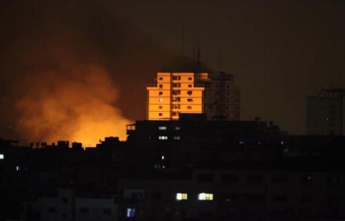 الاحتلال الاسرائيلي يشن غارات على غزة