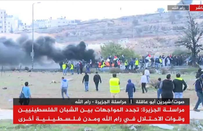 تجدد المواجهات بالضفة والاحتلال يقمع المحتجين