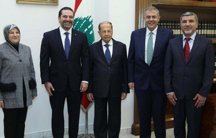 سفيري لبنان في عمان والامارات اقسما اليمين أمام عون والحريري