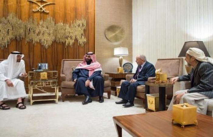 """بن سلمان وبن زايد يلتقيان قيادة حزب """"الإصلاح"""" اليمني بالرياض"""