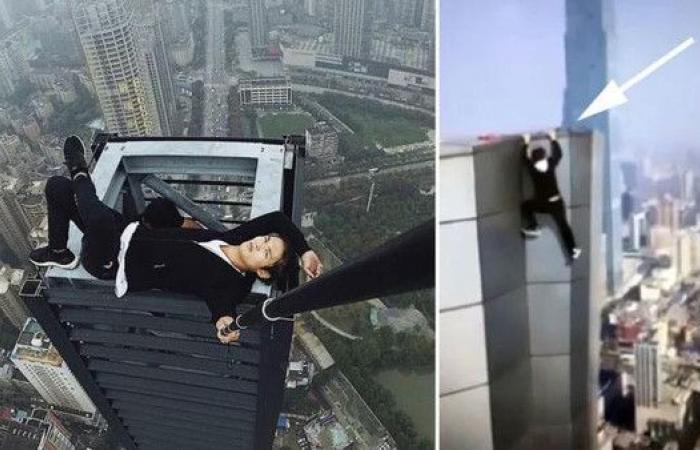 فيديو مأساوي.. سقط من ارتفاع 62 طابقا