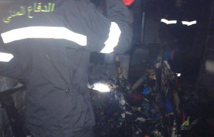 حريق يلتهم محتويات منزل في بلدة مشحا العكارية