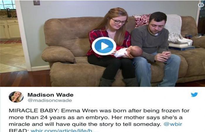 ولادة طفلة أمضت ( ٢٤) عامًا كجنينٍ متجمد