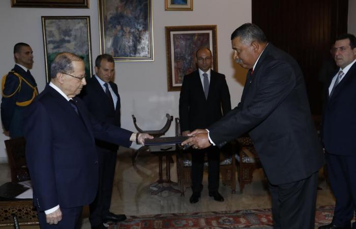 رئيس الجمهورية يتسلّم اوراق اعتماد خمسة سفراء جدد… ومن ضمنهم وليد اليعقوب