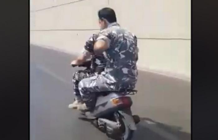 """بالفيديو: """"وينيه الدولة""""… """"الوطن"""" من دون خوذة على دراجة"""
