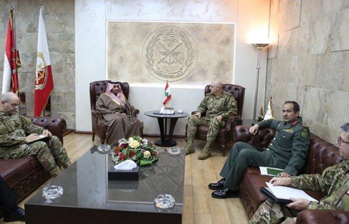 قائد الجيش التقى سفيري المملكة العربية السعودية والمانيا ومدير الاستخبارات الأوسترالية