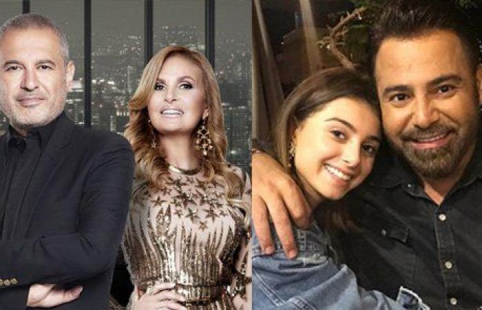 """بالفيديو ومن باريس: عاصي وماريتا الحلاني يغنيان ويسرا """"3 دقات"""" في حفل إطلاق إيلي صعب مجموعته الجديدة"""