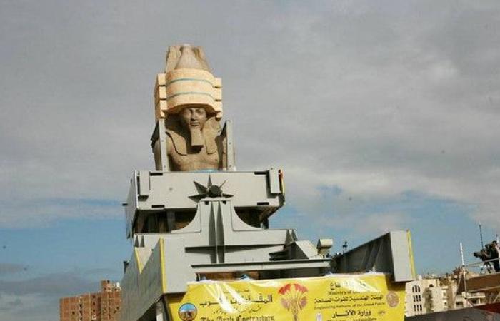 شاهد.. مصر تنقل تمثال رمسيس وهذه هي التكلفة
