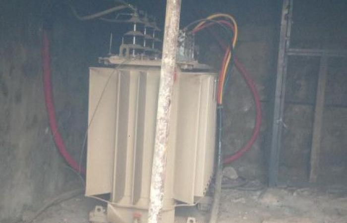 بالصور.. حريق داخل غرفة محوِّل للطاقة في البوار
