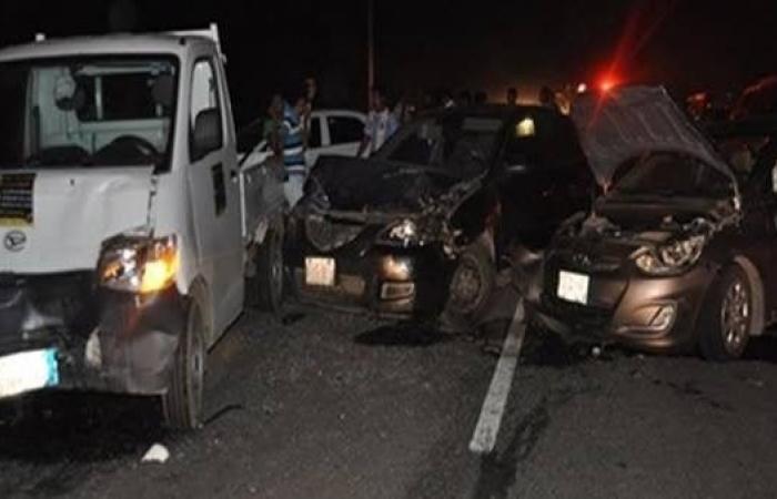 حوادث سير تخلف قتلى وجرحى في ٤ محافظات مصرية