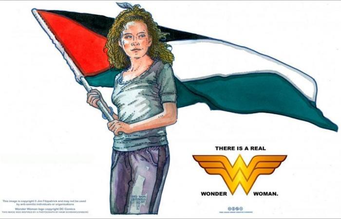 """رسام غيفارا: عهد التميمي """"المرأة المعجزة"""" الحقيقية"""