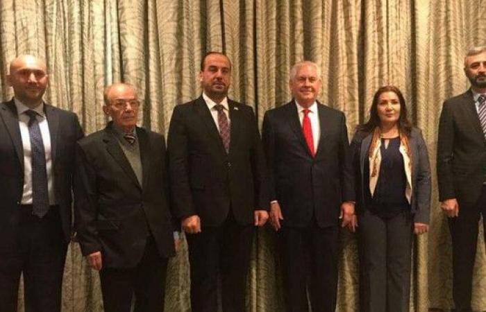 تيلرسون يلتقي المعارضة السورية.. تشديد على خفض التصعيد