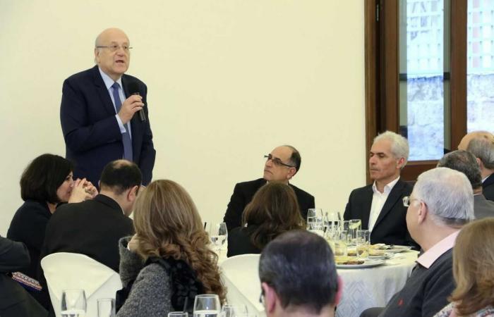 """ميقاتي مكرما مدراء """"اللبنانية"""" في الشمال: لتكون الجامعة قدوة للمؤسسات"""