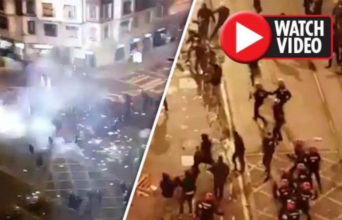 """بالفيديو: في ملاعب اسبانيا.. قتيل وفوضى بسبب """"الهوليغانز"""" الروس!"""