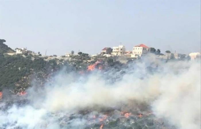 حريق في أحراج بلدة اجدبرا البترون