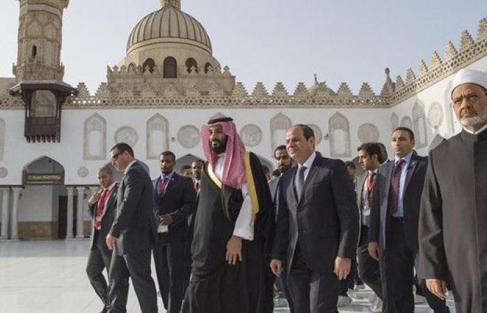 الأمير محمد بن سلمان والرئيس السيسي بالأزهر بعد ترميمه