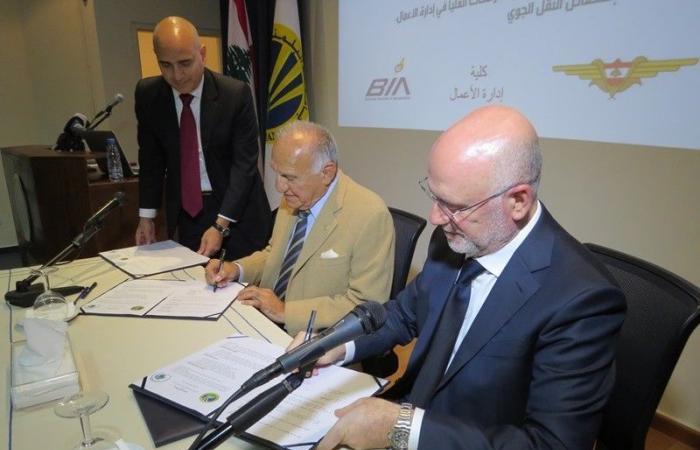فنيانوس وقع والبلمند اتفاقية لبرنامج الدراسات العليا في اختصاص النقل الجوي