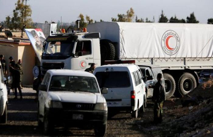 الصليب الأحمر: دخول قافلة مساعدات إلى الغوطة الشرقية