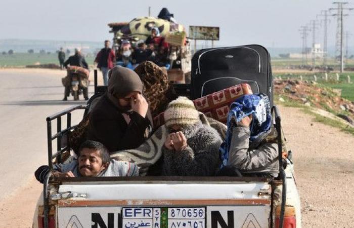 قافلة مساعدات إلى تل رفعت لنازحي عفرين