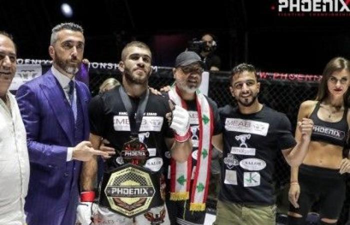 محمد كركي بطل العالم في الفنون القتالية المختلطة