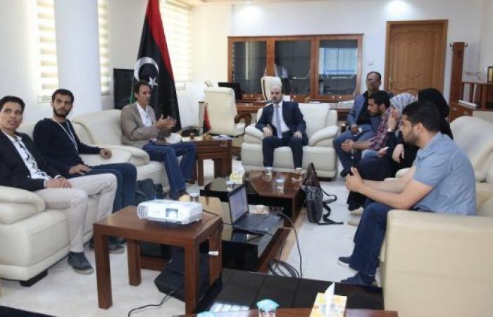 عضو المجلس الرئاسي «محمد عماري» يلتقي مع فريق مبادرة ليبيا 2020