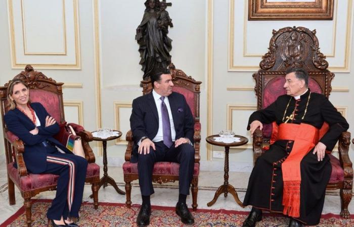 سفير المكسيك وسفير لبنان لدى الارجنتين في بكركي