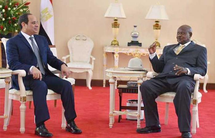 الرئيس الأوغندي يصل إلى القاهرة