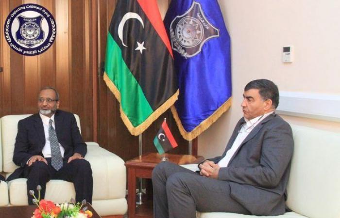 وزير الداخلية يستقبل سفير الباكستان لدى ليبيا