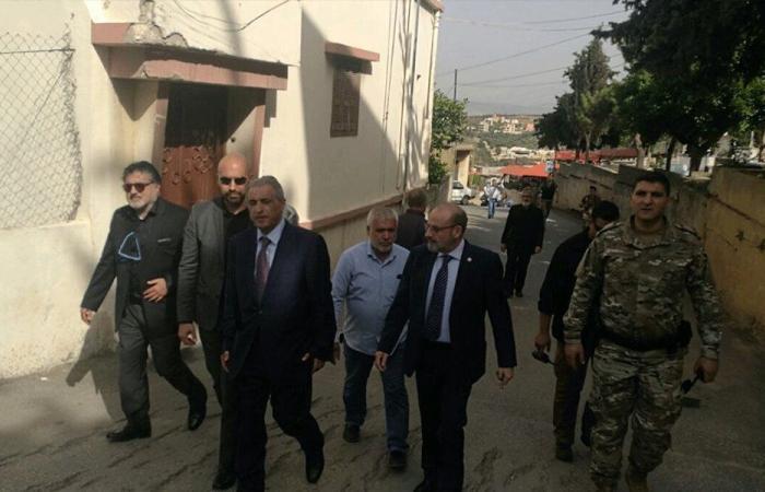 الصراف يتفقد كفركلا والعديسة بعد التطورات في سوريا