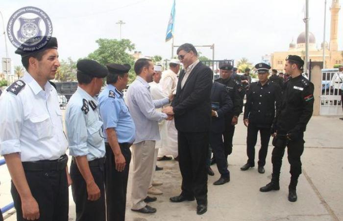 وزير الداخلية بحكومة الوفاق يزور مديرية أمن ترهونة