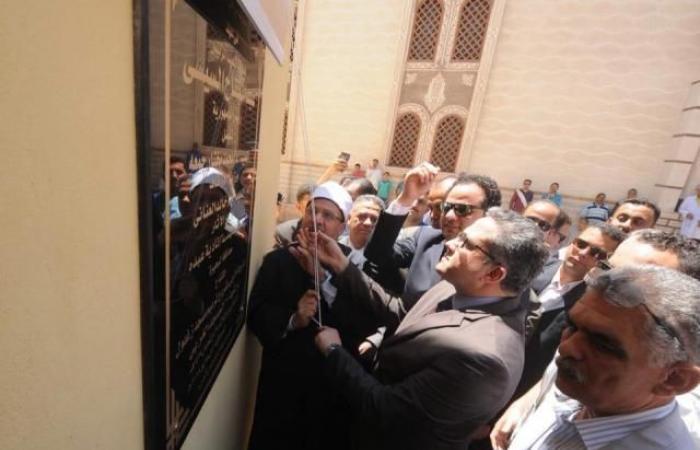 «العناني» و«جمعة» يفتتحان مسجد «زغلول» الأثري بمدينة رشيد بالبحيرة