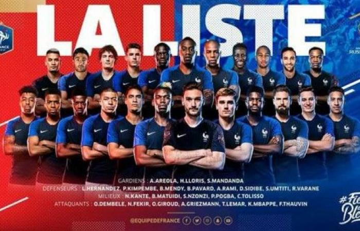 قائمة المنتخب الفرنسي لمونديال روسيا