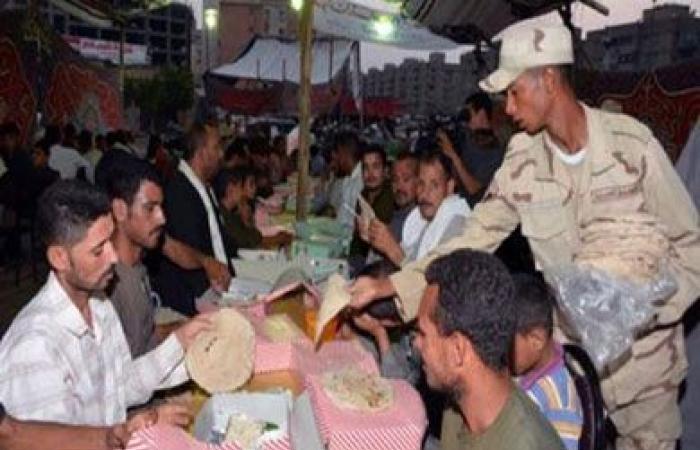 القوات المسلحة تقيم 132 مائدة إفطار رمضانية بمحافظات الجمهورية