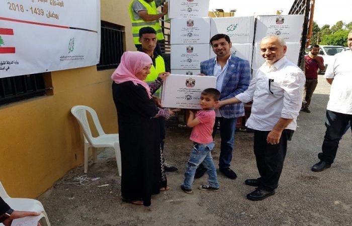 مساعدات من سفارة الإمارات للنازحين السوريين