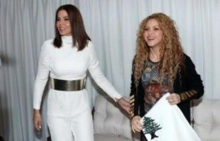 بالصور: ستريدا جعجع رحّبت بشاكيرا على طريقتها.. وهدية لبنانية بامتياز