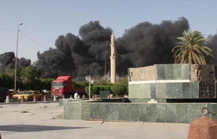 حريق هائل يلتهم سوقا أثريا في أربيل