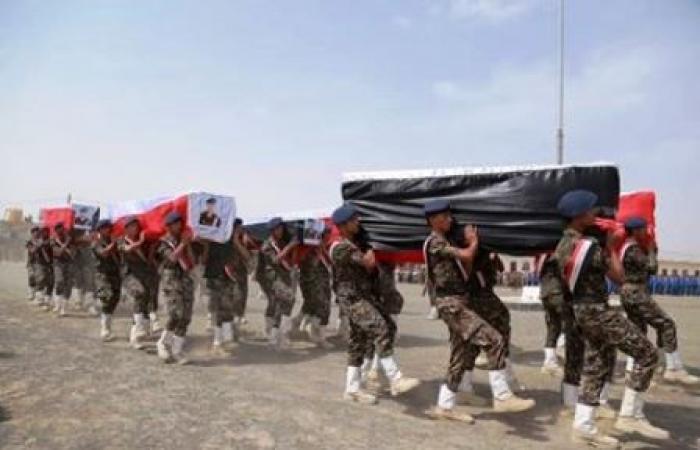 اليمن | مأرب تشيع شهداء نقطة الفلج (صور)