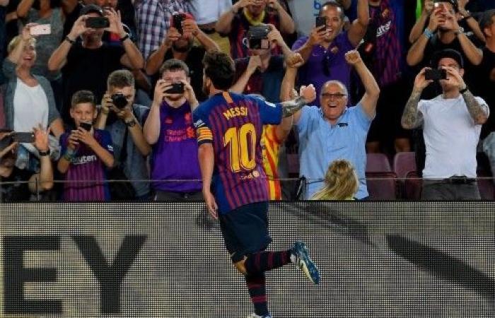 برشلونة يقص شريط الليغا بفوز صعب على ألافيسبفضل ميسي