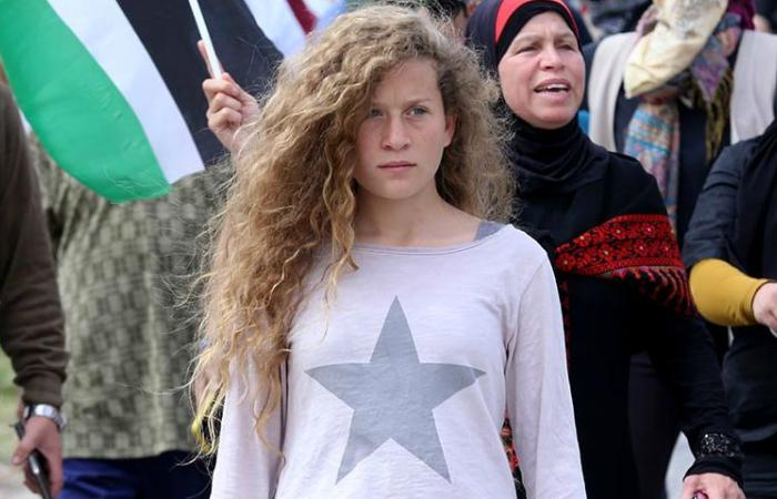 فلسطين   فيديو: عهد التميمي توجه رسالة لحسن نصر الله