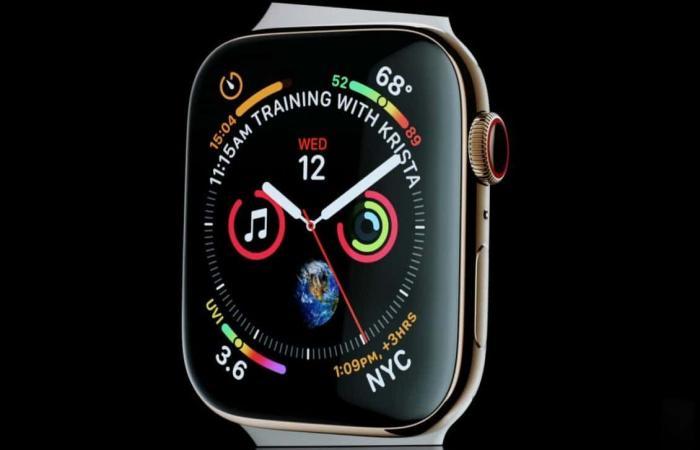 Apple Watch Series 4أعيد تصميمها بقدرات تواصل ولياقة وصحة مبتكرة