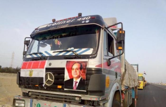 فلسطين | ادخال 168 شاحنة سلع و بضائع لغزة عبر بوابة صلاح الدين