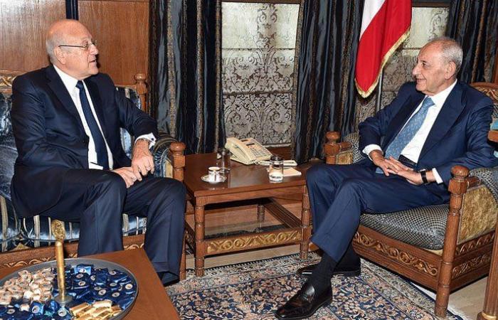 بري عرض الوضع الحكومي مع ميقاتي واستقبل علاوي وفريق عمل الخطة الاقتصادية للبنان
