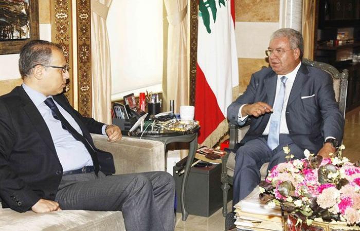 المشنوق استقبل نائب الرئيس العراقي وسفير مصر